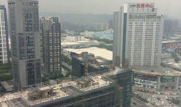 渝北区汽博中心重庆新科背景家具1室1厅1卫45平米国际企业广场墙效果图图片