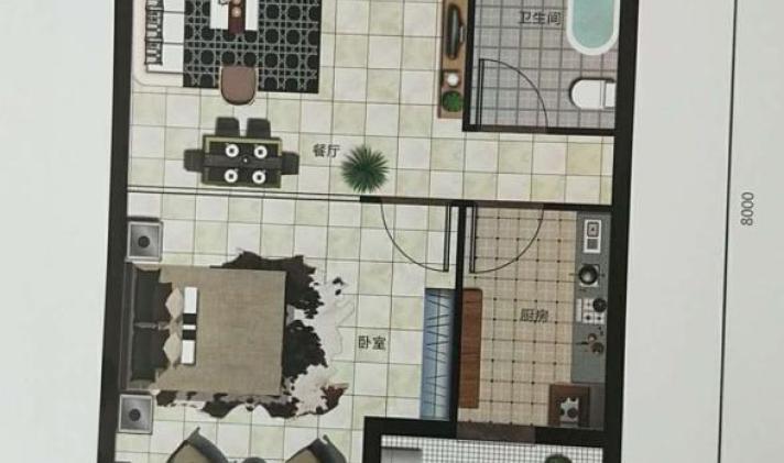 榆次区-龙湖大街 晋园(公寓) 1室1厅1卫 68平米