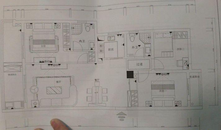 柯桥华舍 金地格林 3室2厅2卫 110平米