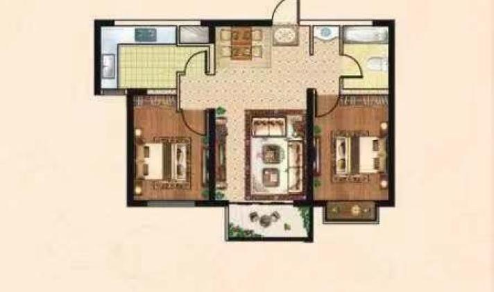 榆次 泰悦御庭 2室1厅1卫 89平米