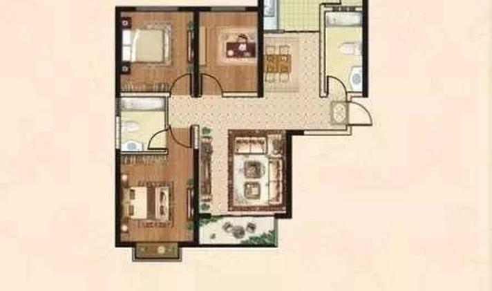 榆次万达广场 泰悦御庭 3室2厅2卫 126平米