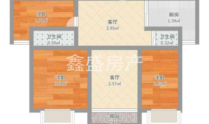 海门市海门 中南世纪锦城 3室2厅2卫 128平米